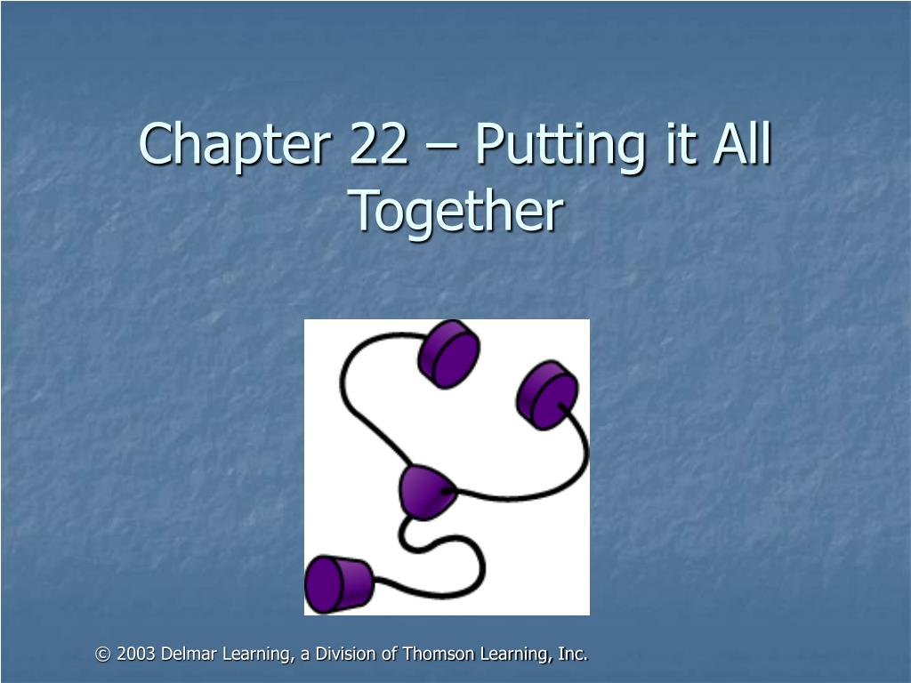 Chapter 22 – Putting it All Together
