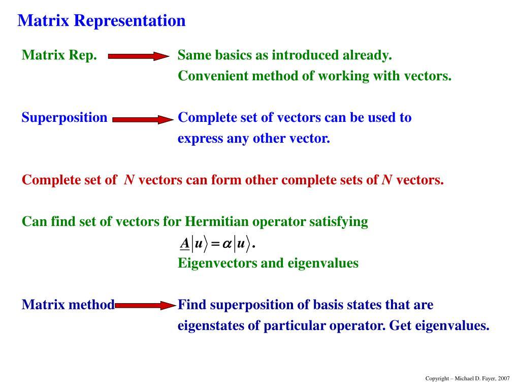 Matrix Representation