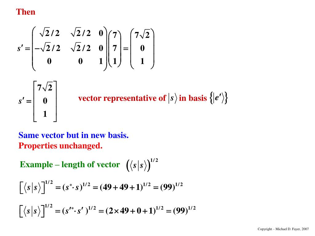 Example – length of vector