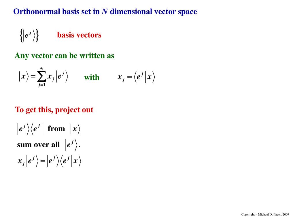 Any vector can be written as