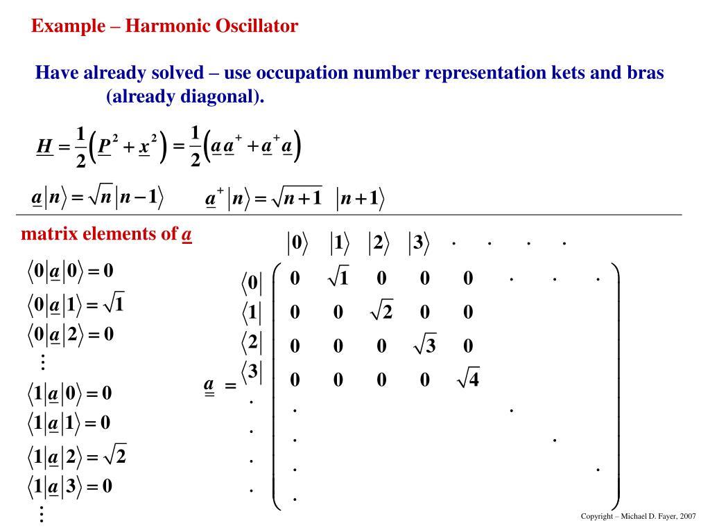 matrix elements of