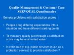 quality management customer care servqual questionnaire10