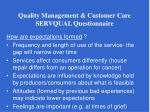 quality management customer care servqual questionnaire5