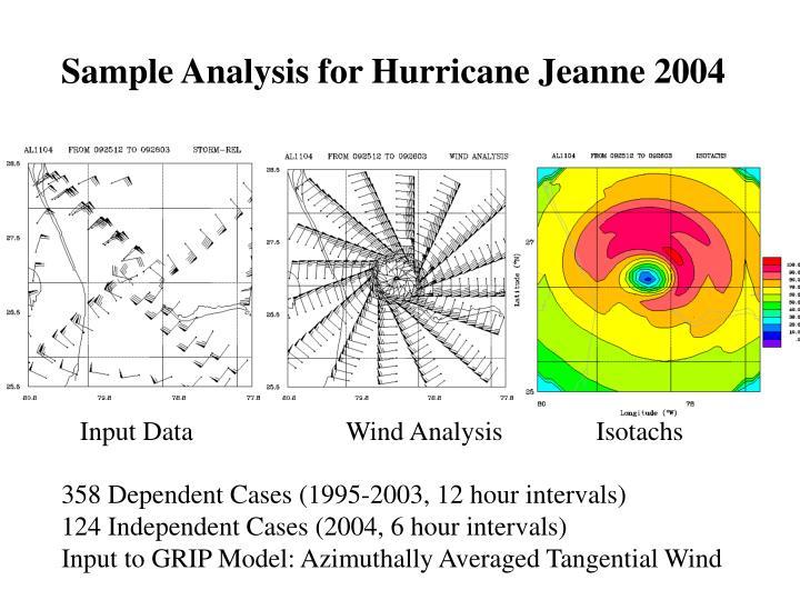Sample Analysis for Hurricane Jeanne 2004
