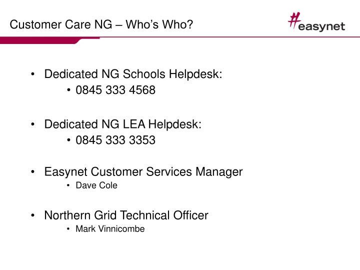 Customer care ng who s who