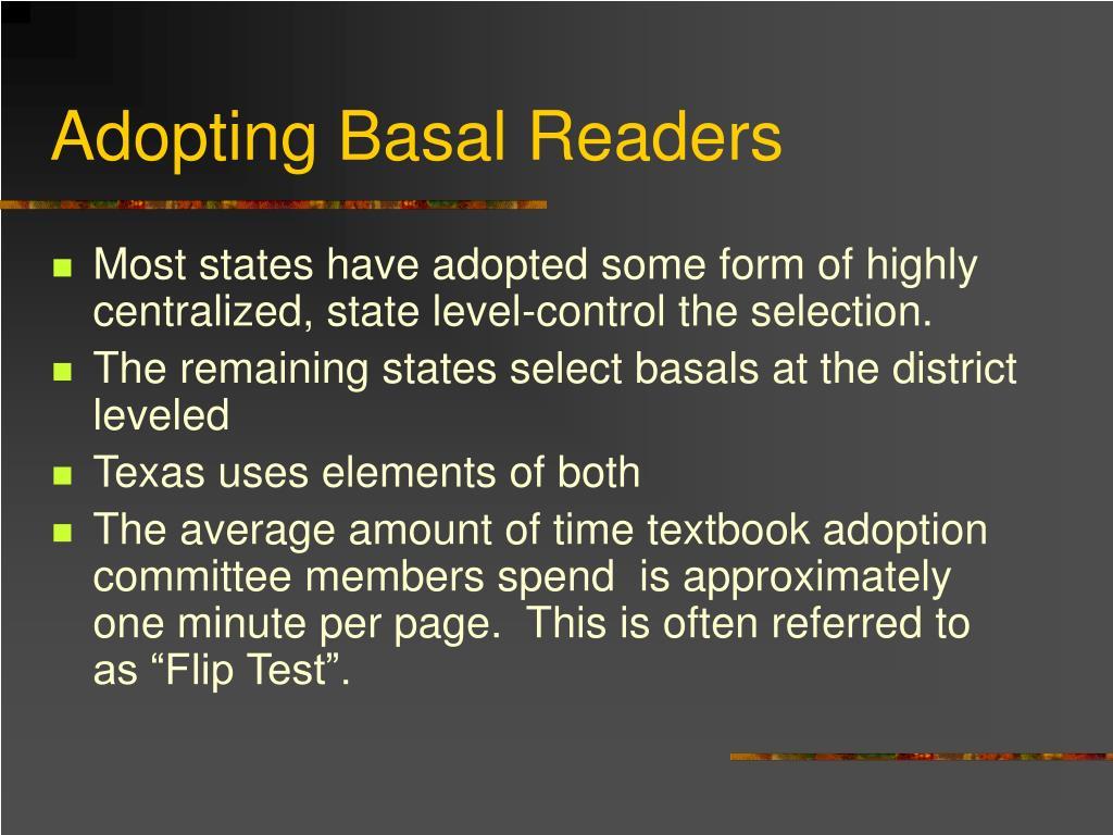 Adopting Basal Readers