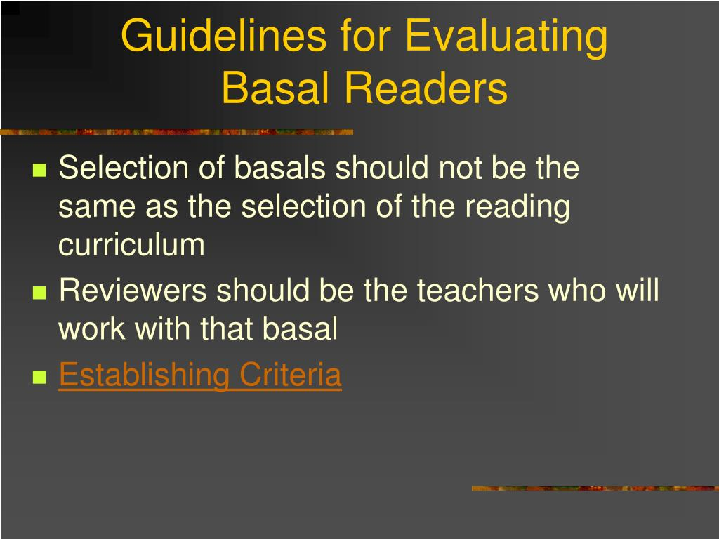 Guidelines for Evaluating