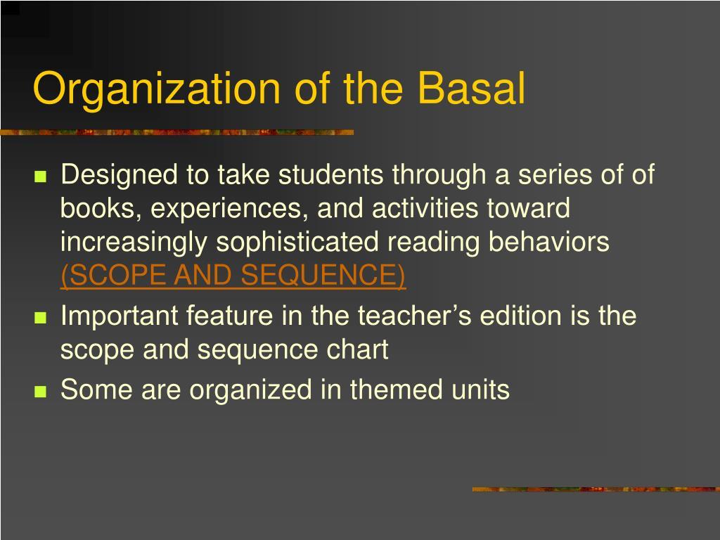 Organization of the Basal