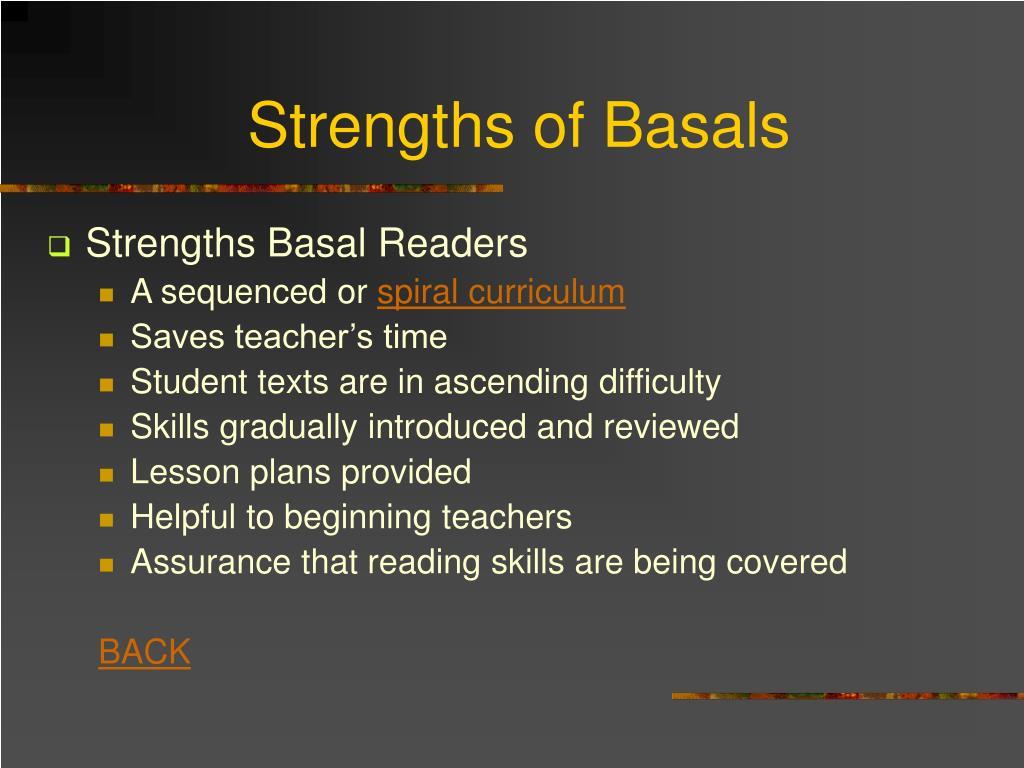 Strengths of Basals