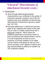 classical determinants of attachment security cont6