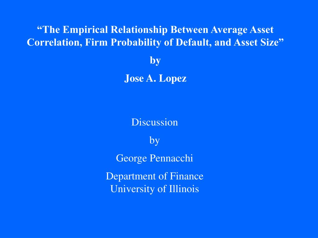 """The Empirical Relationship Between Average Asset"