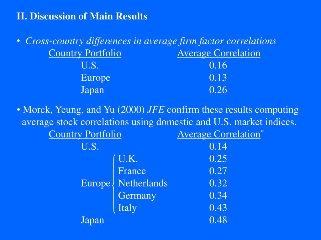 II. Discussion of Main Results