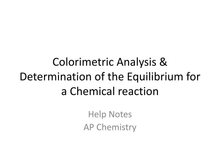 colorimetric analysis Definition of colorimetric analysis in the audioenglishorg dictionary meaning of colorimetric analysis what does colorimetric analysis mean proper usage of the word colorimetric analysis.