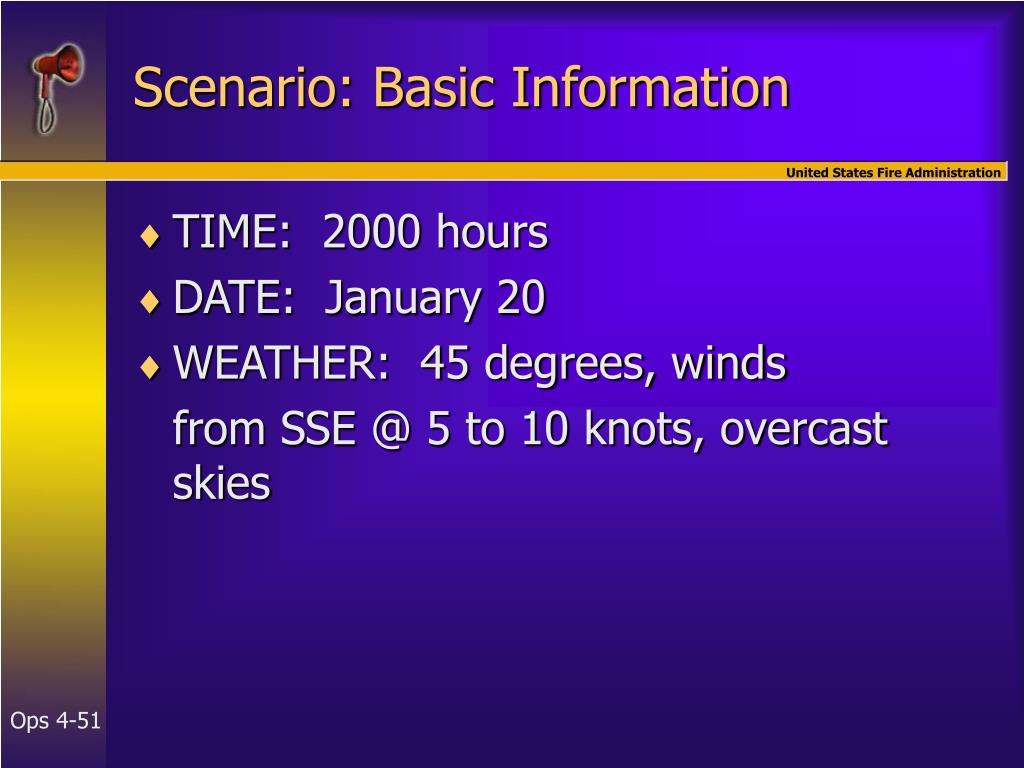Scenario: Basic Information