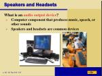 speakers and headsets