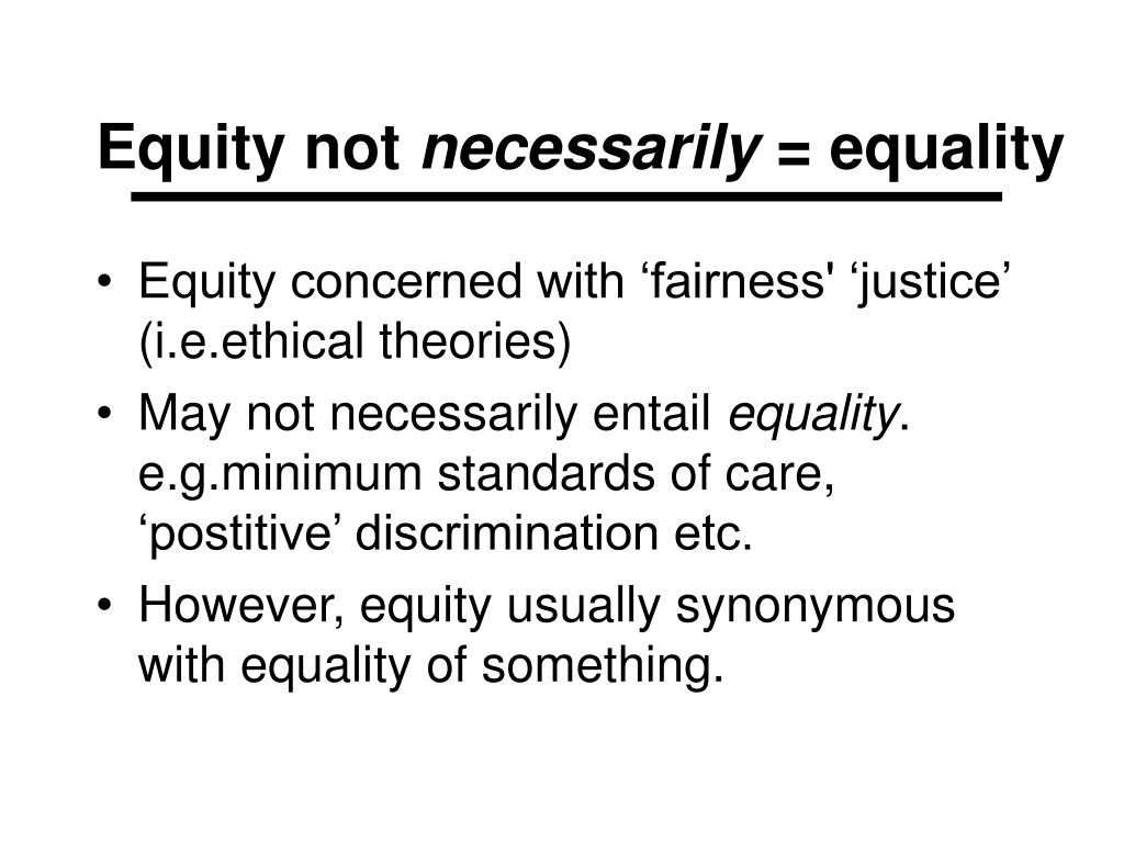 Equity not