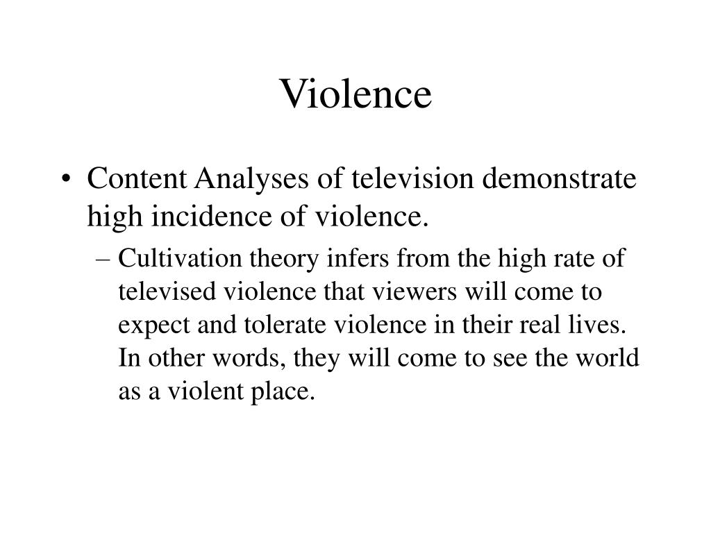 an analysis of television as a source for violence among children Television violence realistic violence is also among the high-risk not only does watching television with children provide parents with information.