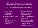 bs2914 quality management customer care 2 customer care philosophy and procedures12
