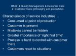 bs2914 quality management customer care 2 customer care philosophy and procedures7