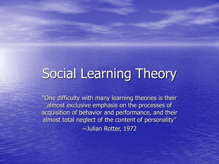 social learning theory n.