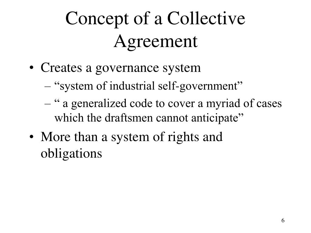 Concept of a Collective Agreement