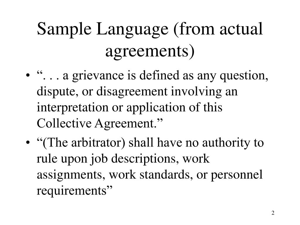 Sample Language (from actual agreements)
