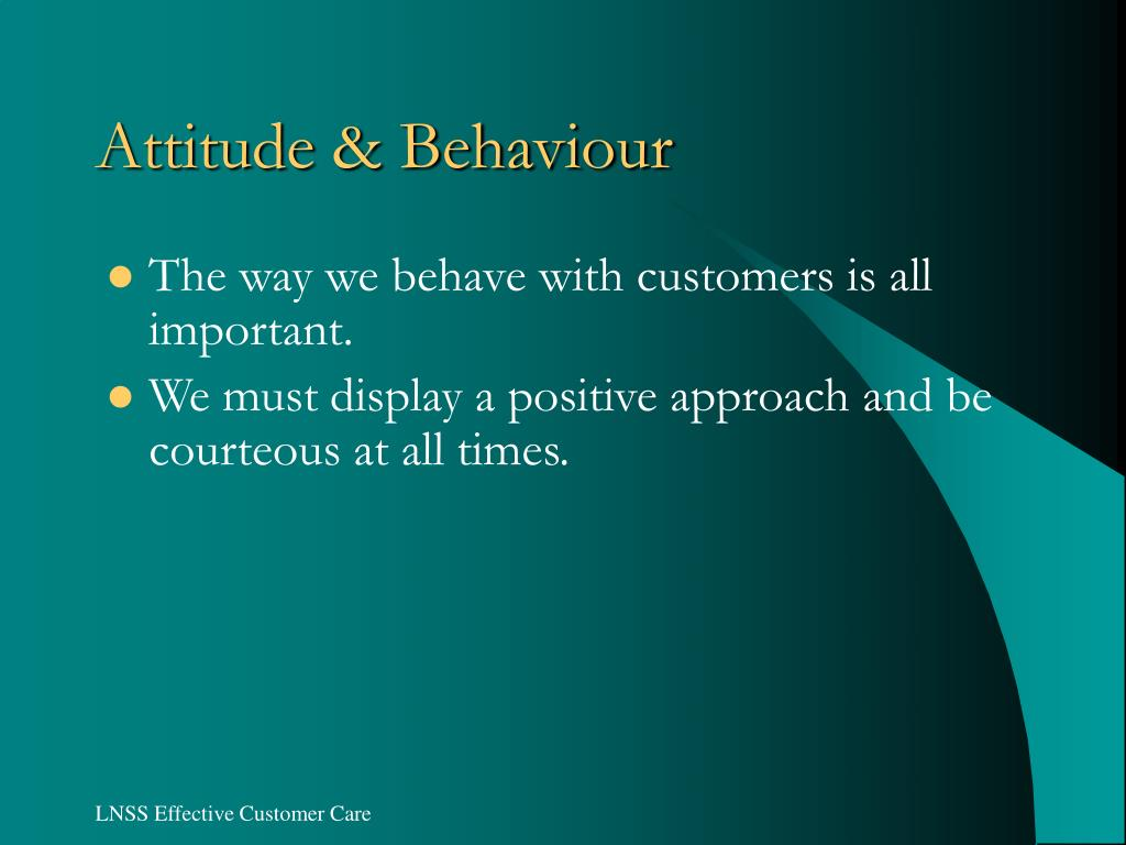 Attitude & Behaviour