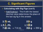 c significant figures9