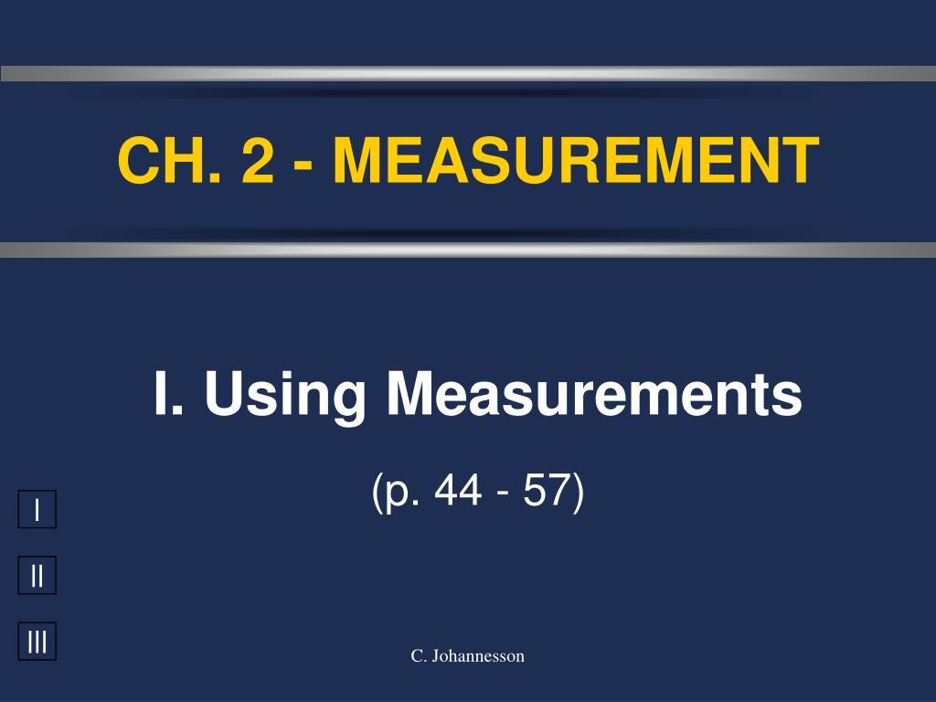 ch 2 measurement