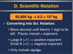 d scientific notation