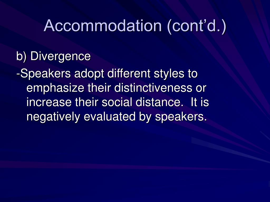 Accommodation (cont'd.)