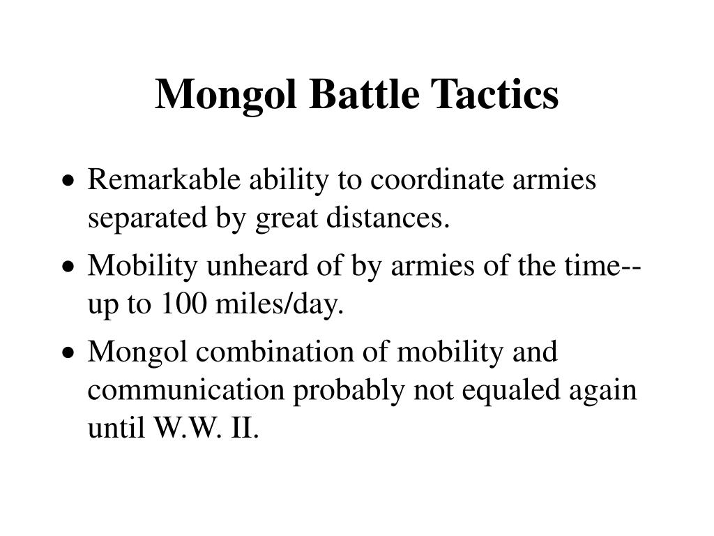 Mongol Battle Tactics