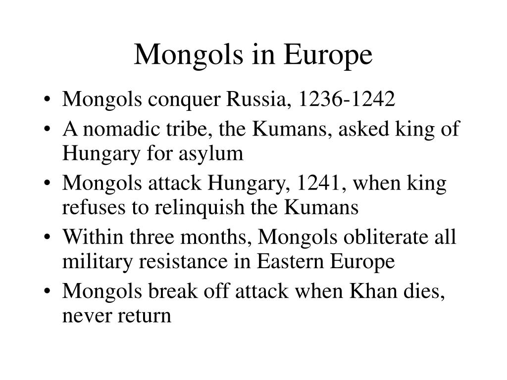 Mongols in Europe
