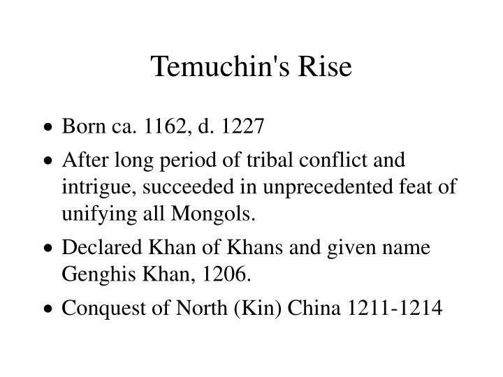 Temuchin s rise