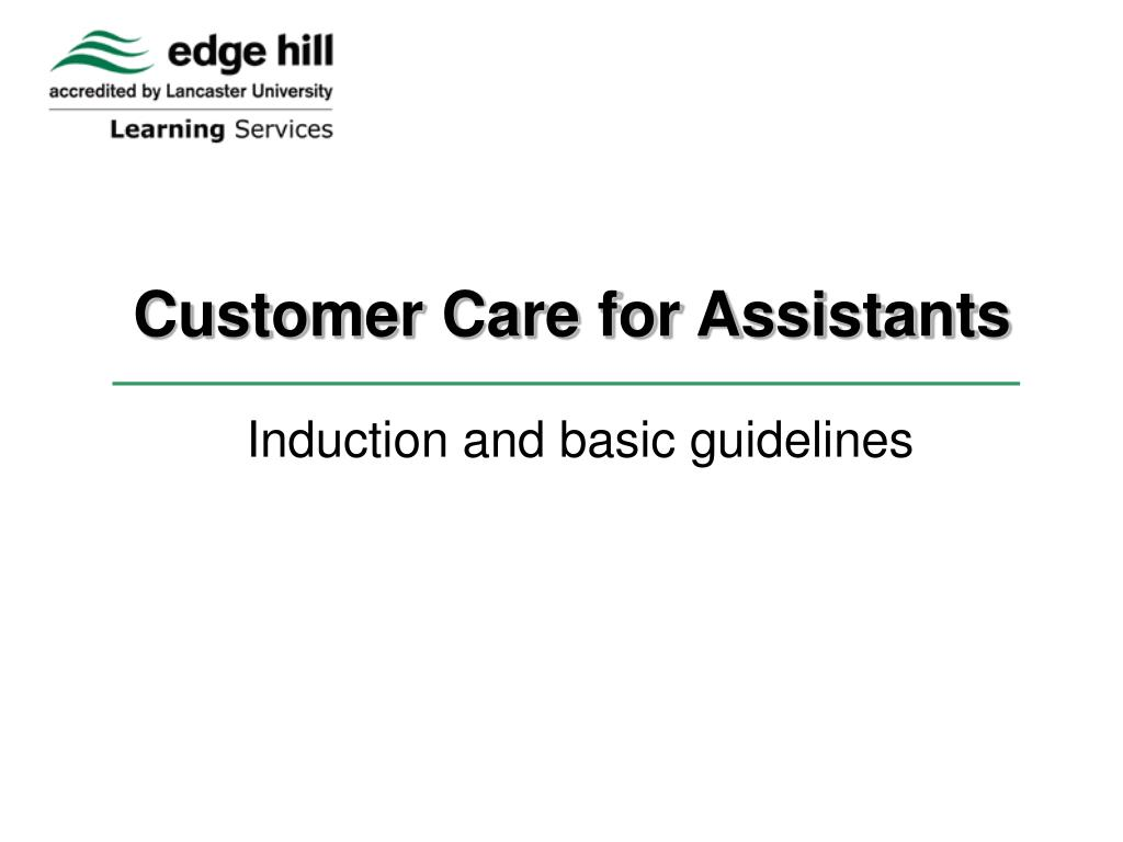 customer care for assistants l.
