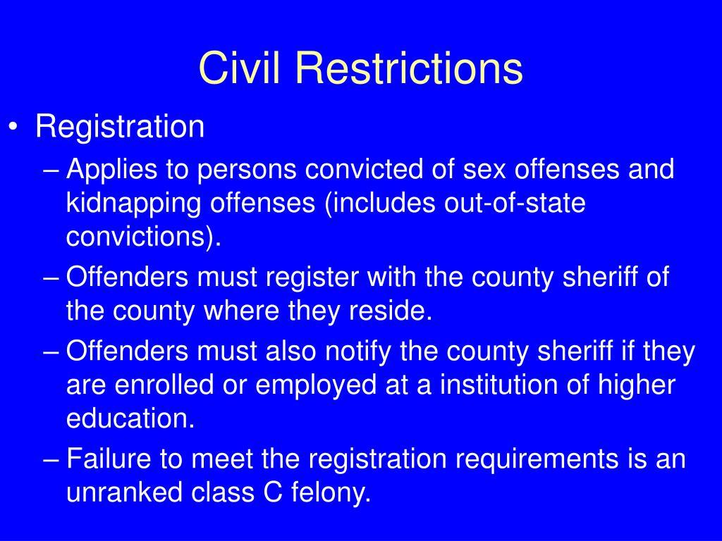 Civil Restrictions