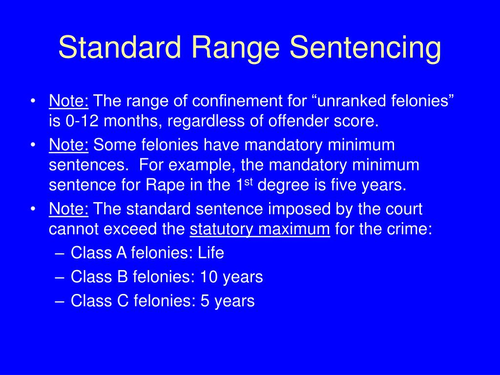 Standard Range Sentencing
