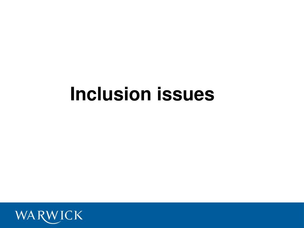 Inclusion issues