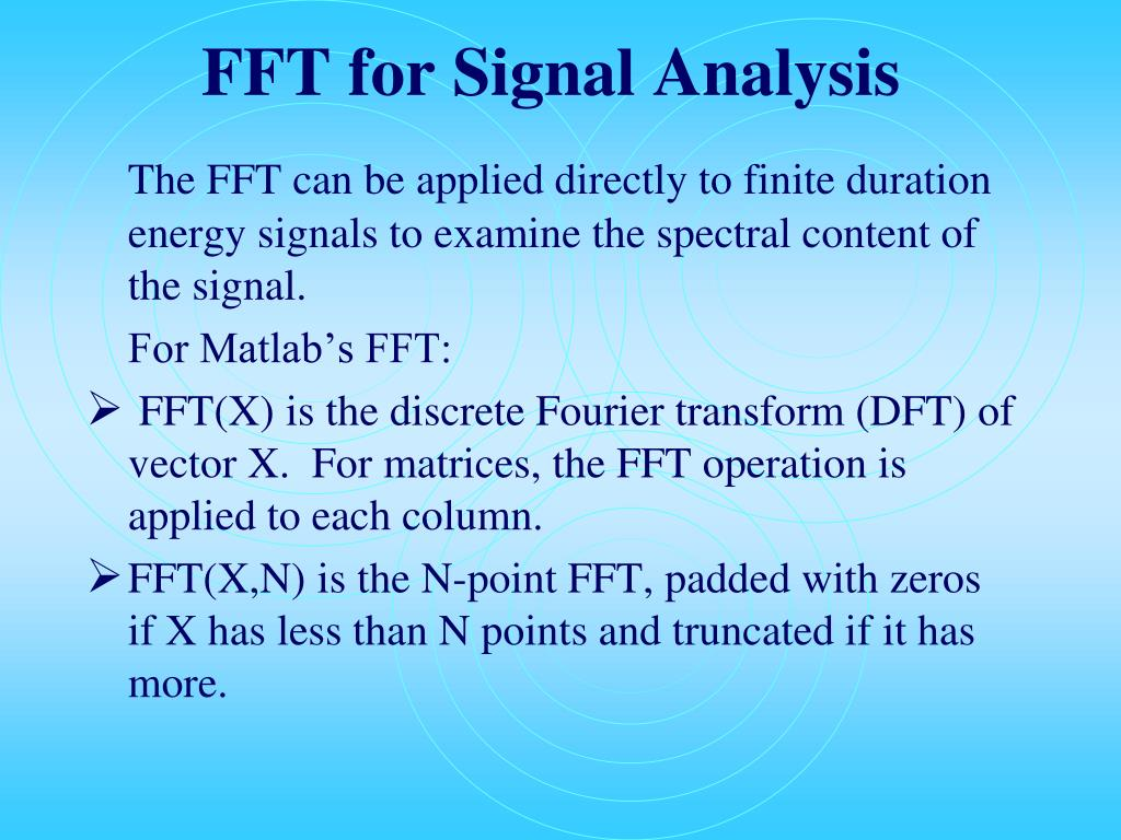 FFT for Signal Analysis