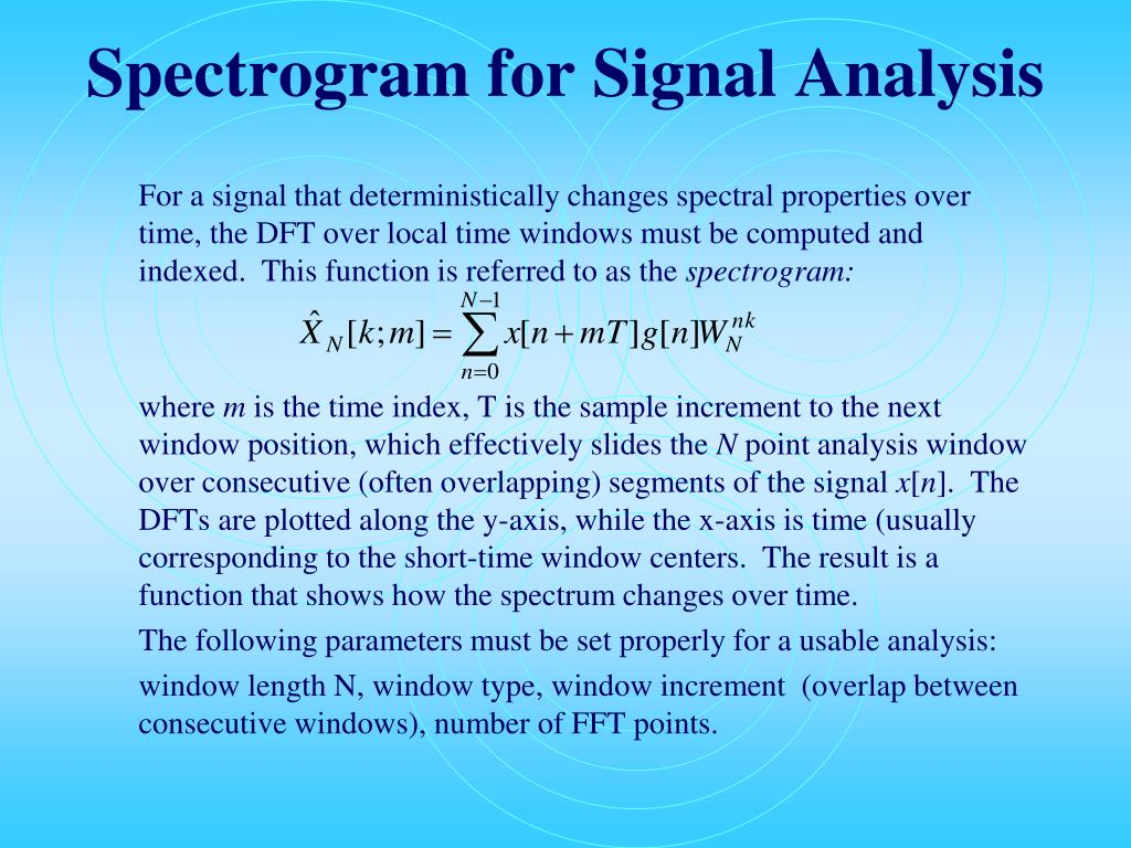 Spectrogram for Signal Analysis