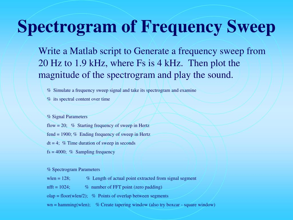 Spectrogram of Frequency Sweep