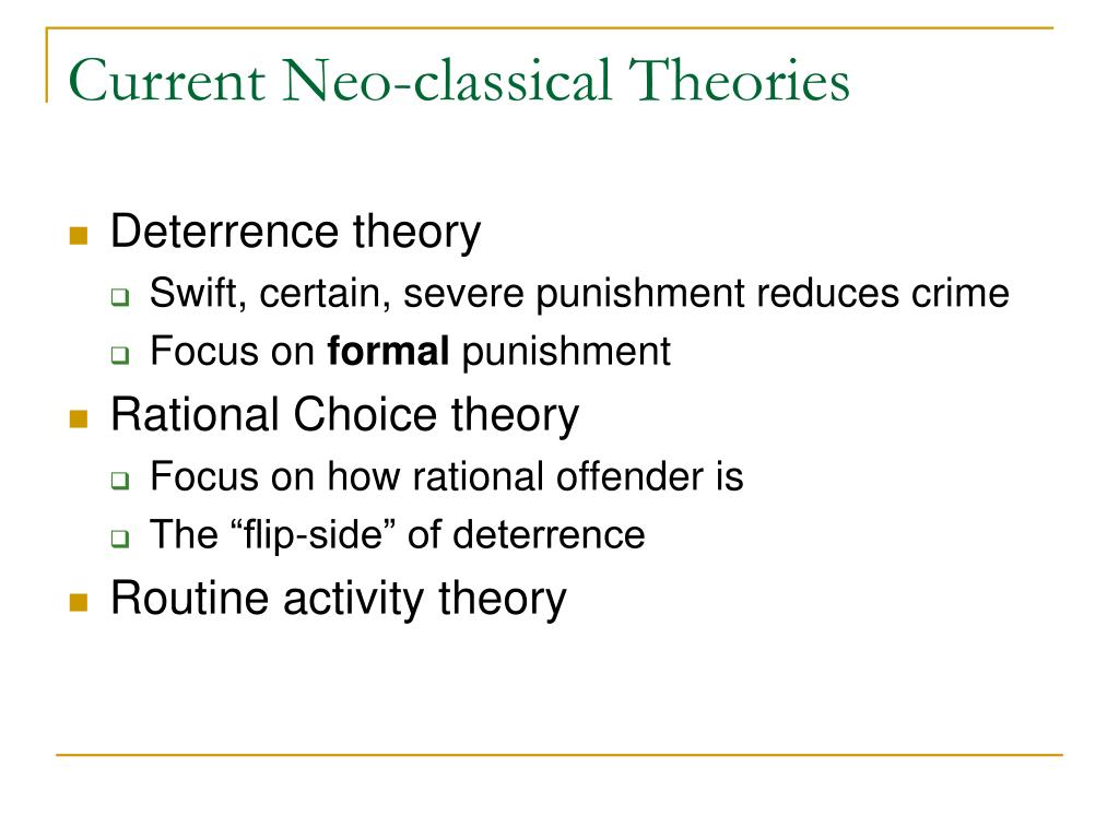 Current Neo-classical Theories
