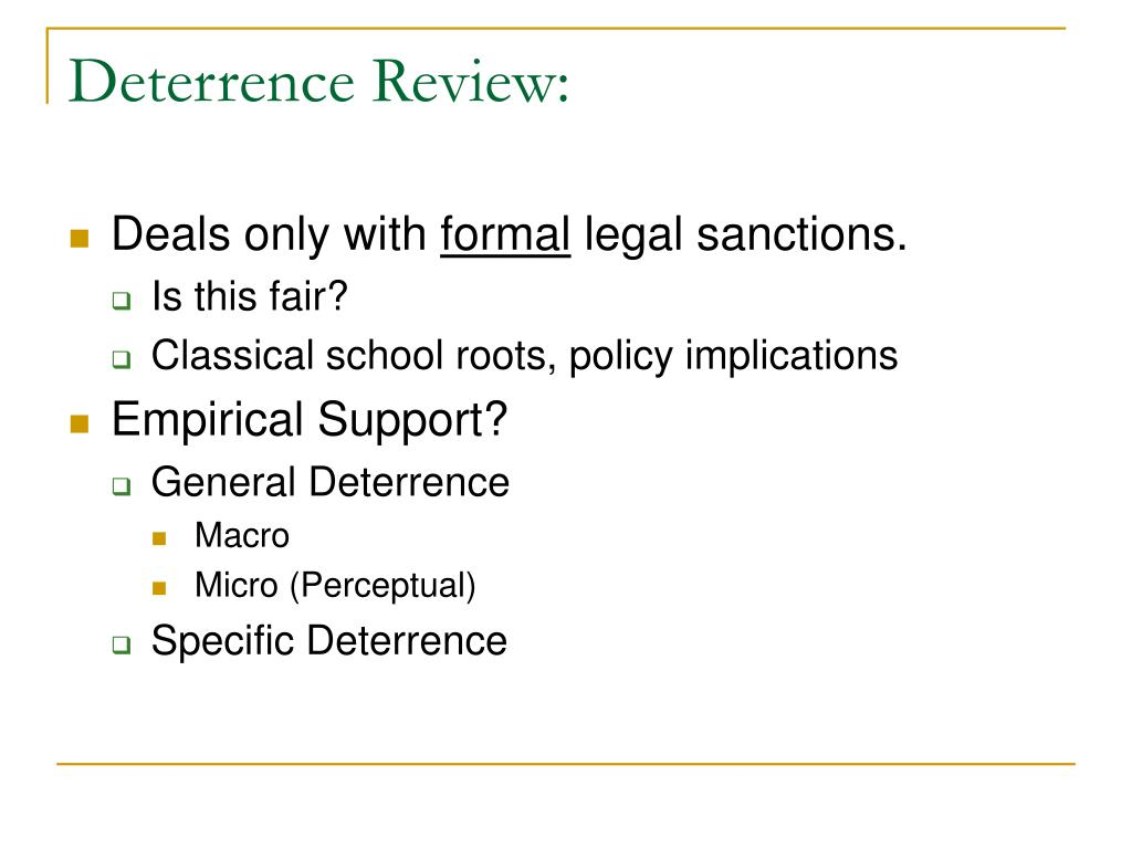 Deterrence Review: