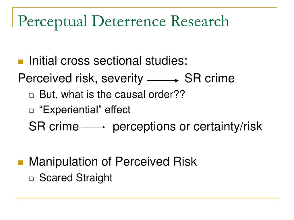 Perceptual Deterrence Research