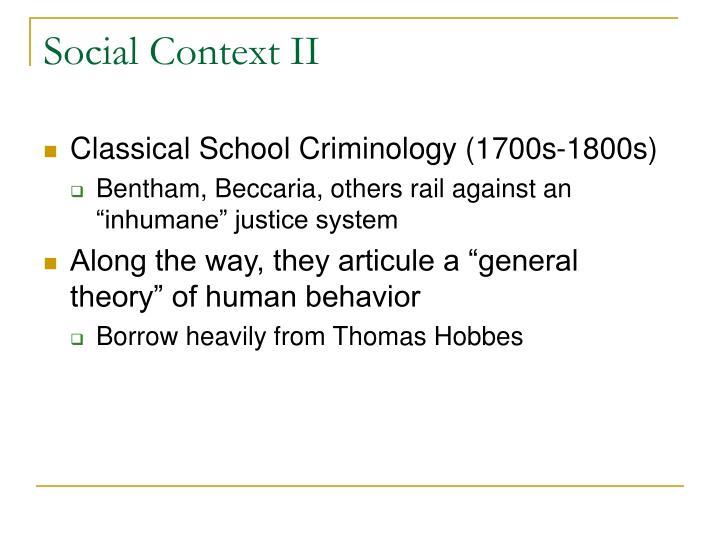 Social context ii