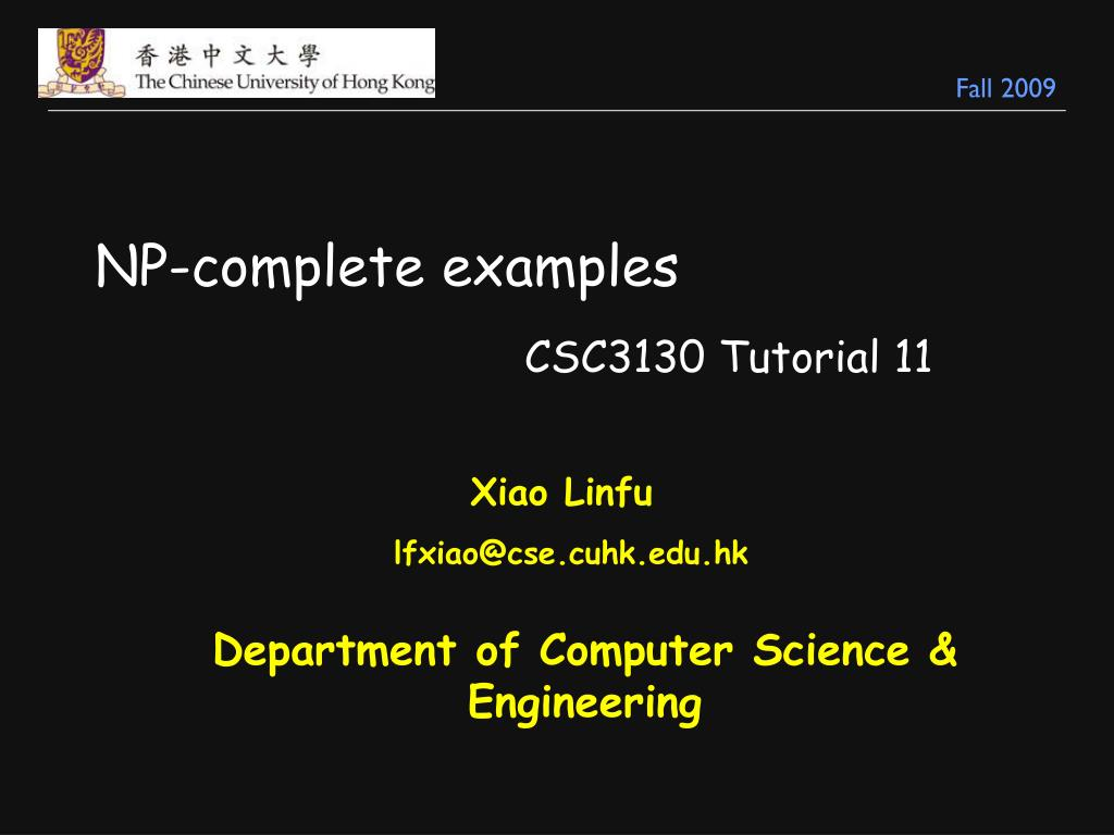 np complete examples
