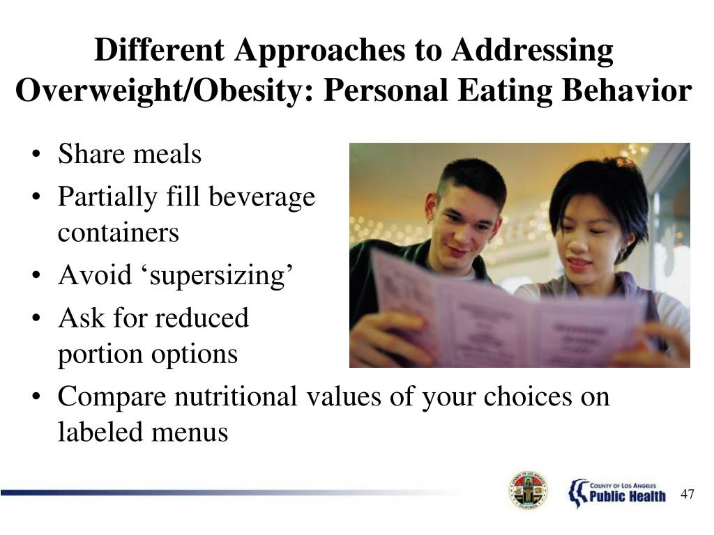Different Approaches to Addressing Overweight/Obesity: Personal Eating Behavior