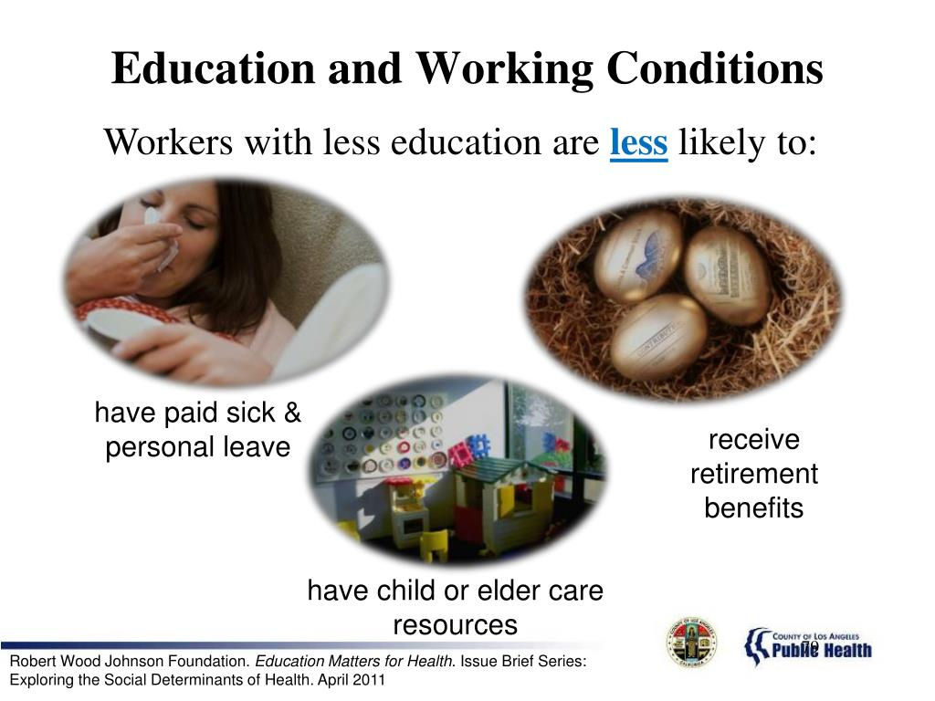 Education and Working Conditions