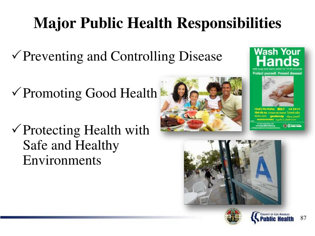 Major Public Health Responsibilities