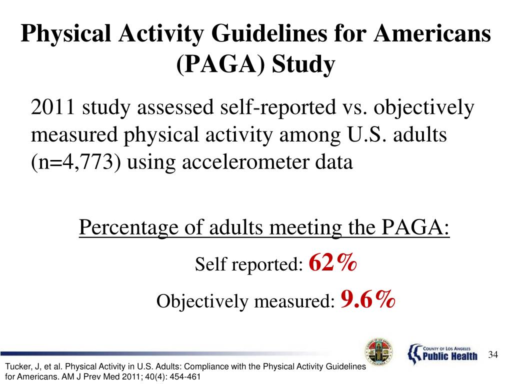 Physical Activity Guidelines for Americans (PAGA) Study
